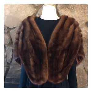 Vintage Sable Fur Wrap With Pockets! Sable Shaw